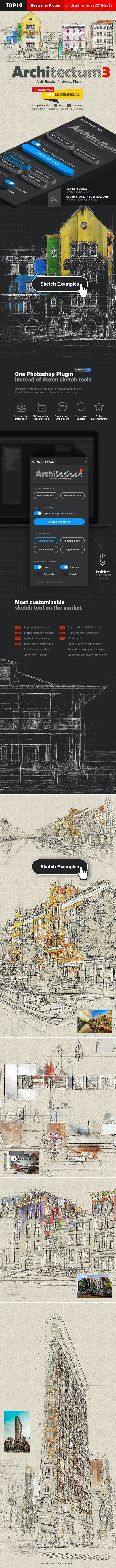 Architecture Sketch - Architectum 3 - Photoshop Plugin - Photo Effects Actions