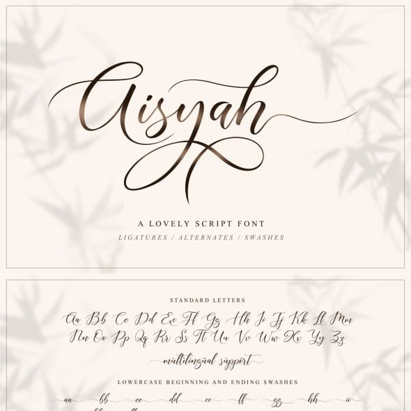 Aisyah   Lovely Script