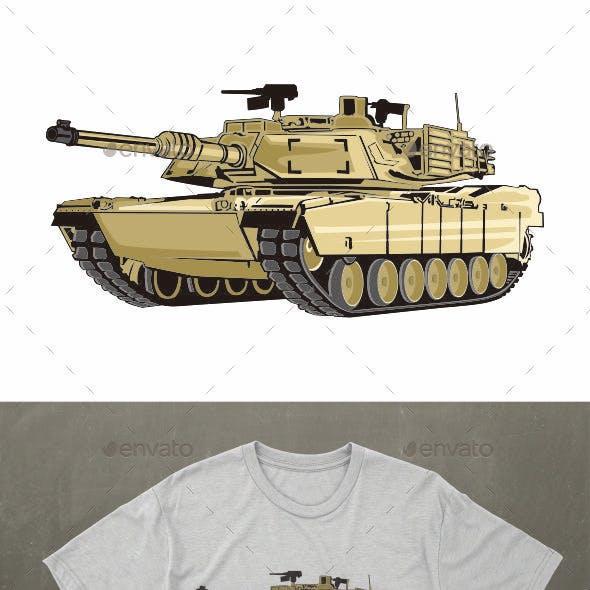Tank Vector Illustration