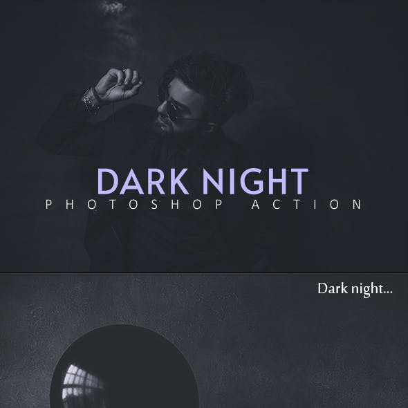 Dark Night Photoshop Action