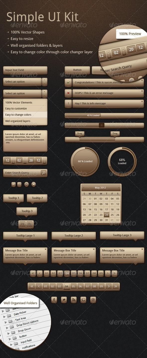 Simple UI Elements - User Interfaces Web Elements