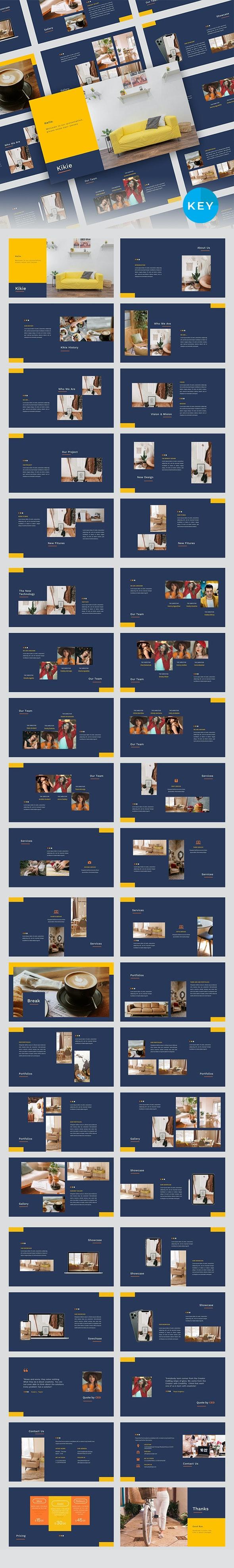 Kikie – Creative Business & Elegant Keynote Template - Business Keynote Templates