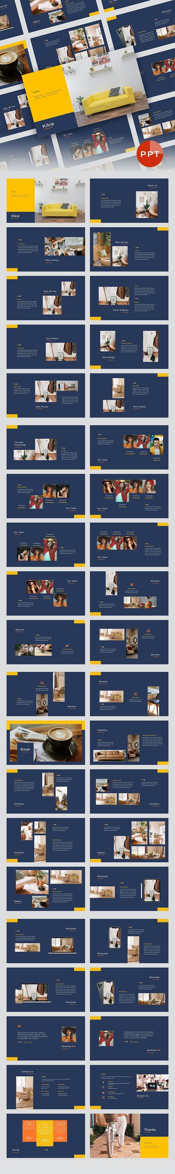 Kikie – Creative Business & Elegant PowerPoint Template - Business PowerPoint Templates