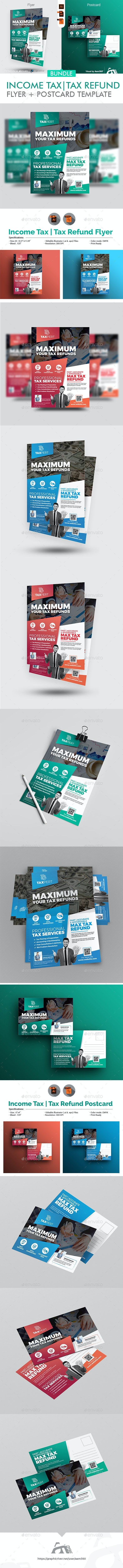 Income Tax Flyer with Postcard Bundle - Corporate Flyers
