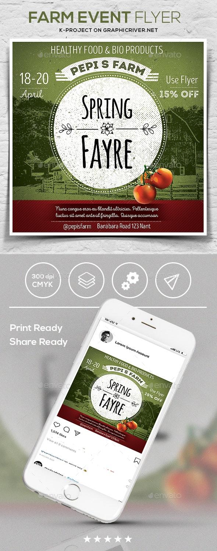 Farm Event Flyer - Flyers Print Templates