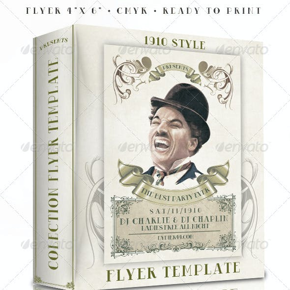 1910 Classic Style  (4x6 Flyer Template)