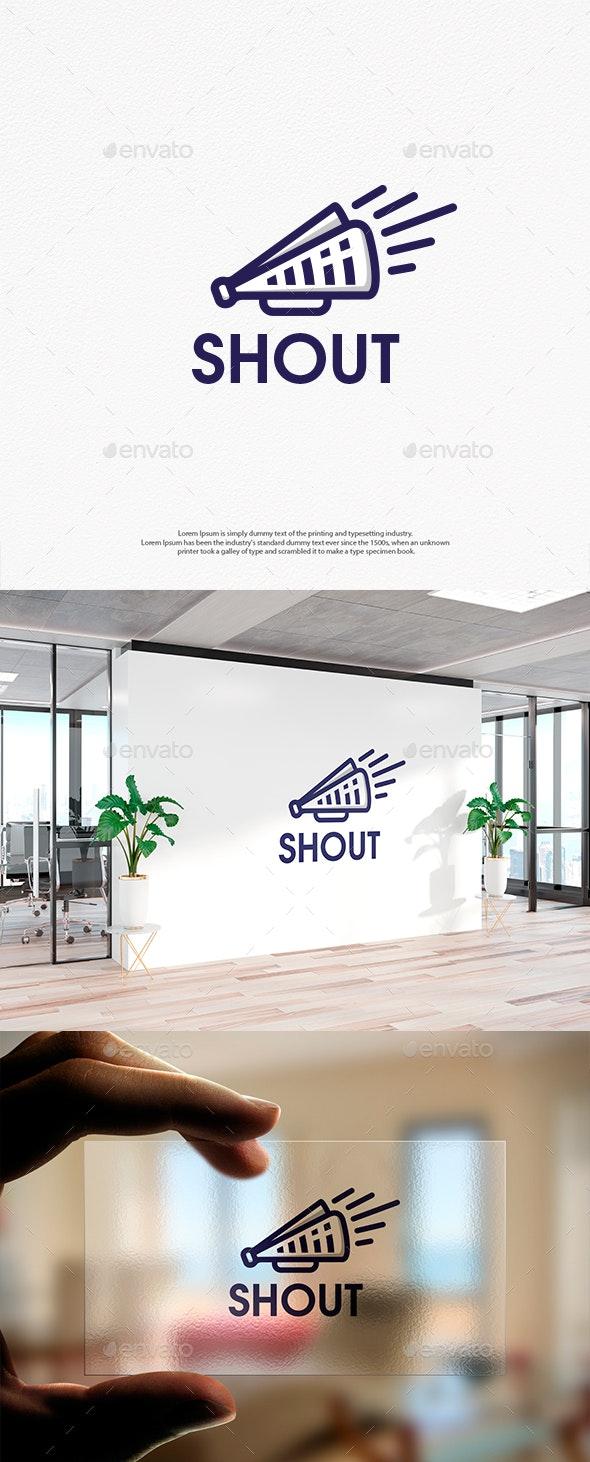 Shout News Linear Logo Template - Objects Logo Templates