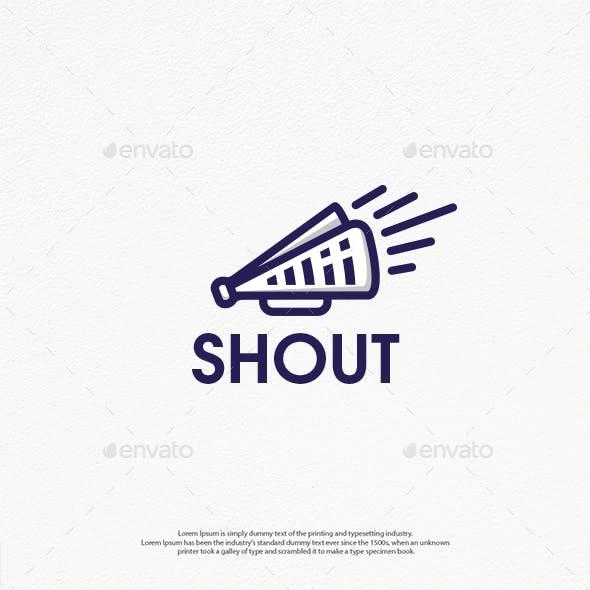 Shout News Linear Logo Template