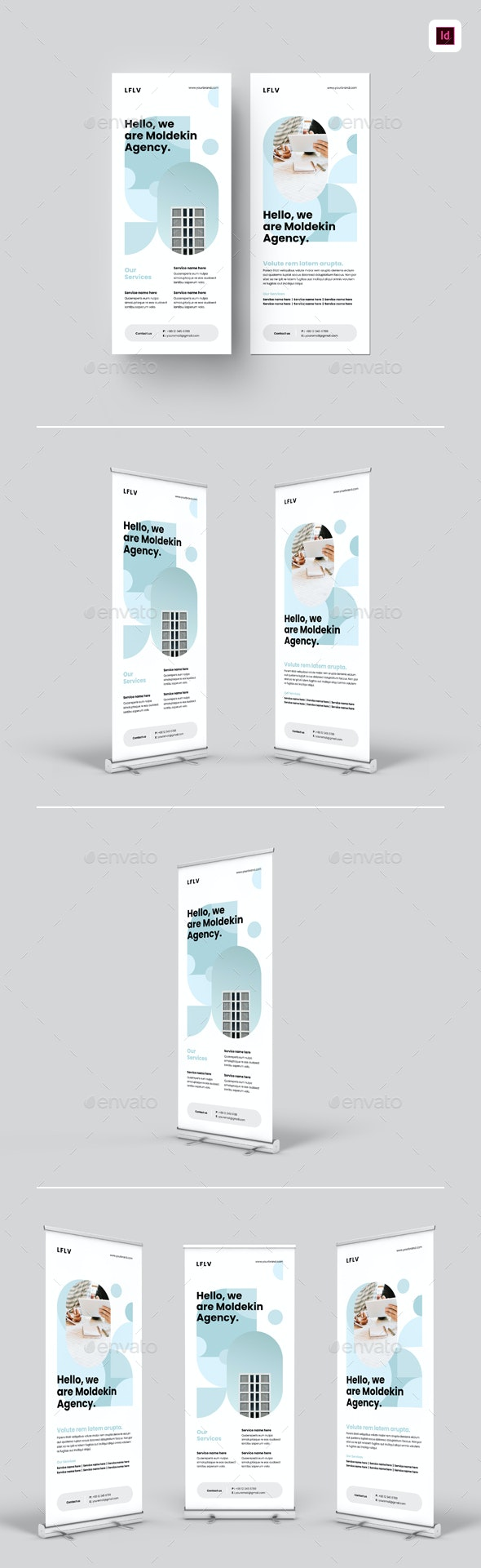 Business Roll-up Banners - Signage Print Templates