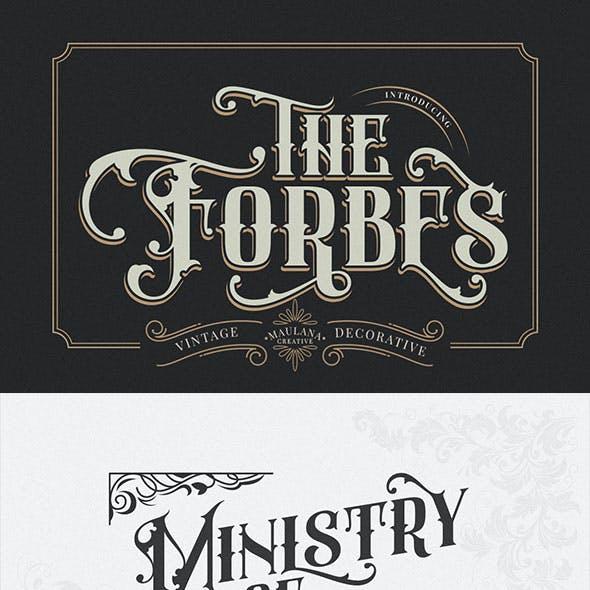 F0rbes - Modern Vintage Font