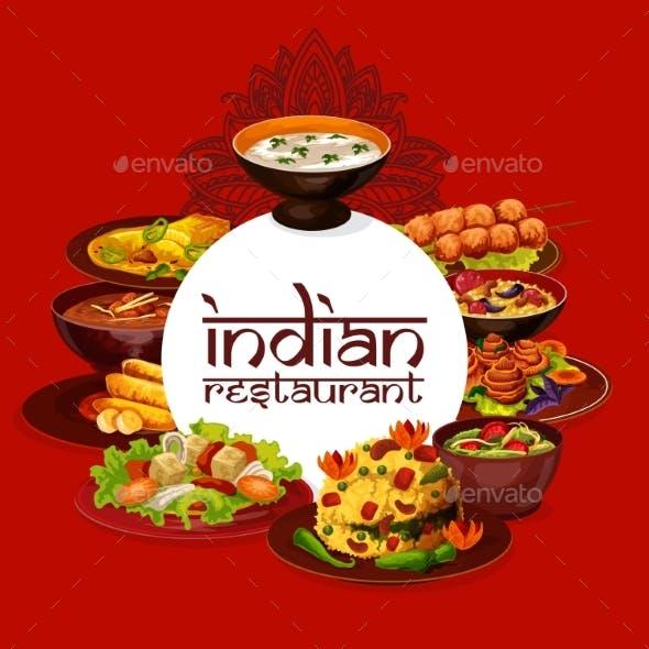 Indian Cuisine Restaurant Menu Cover