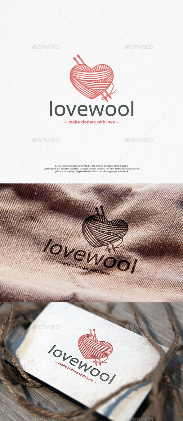 Wool Love Logo Template - Objects Logo Templates
