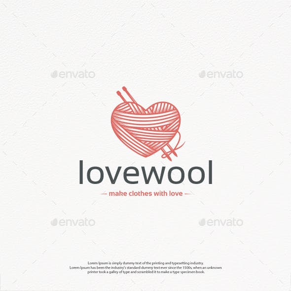 Wool Love Logo Template