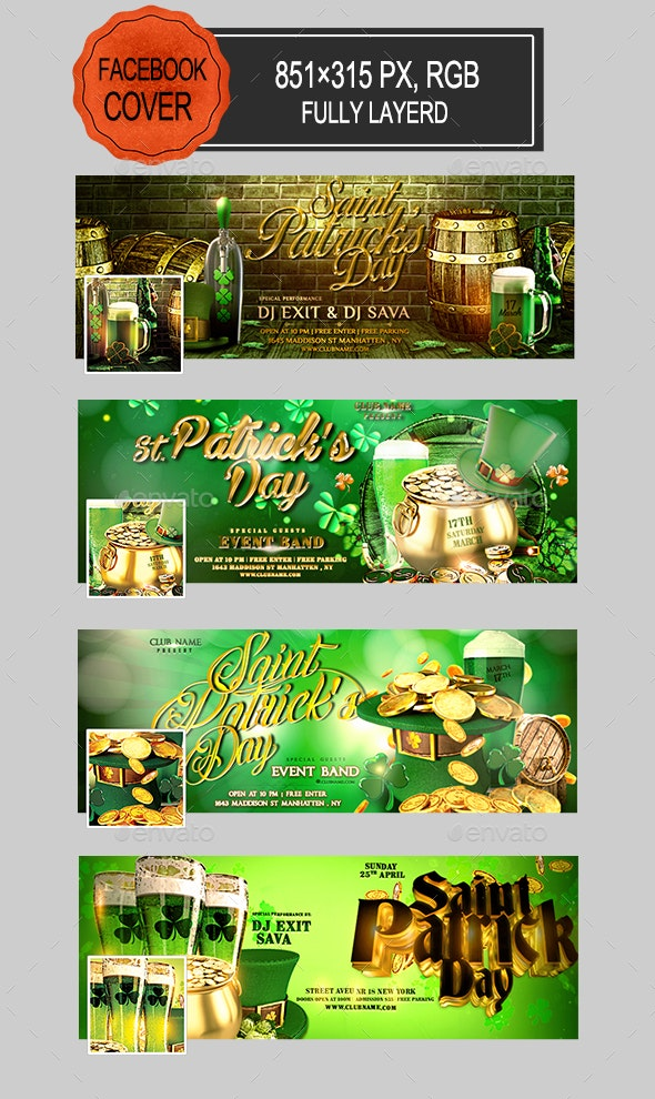 St Patricks Day Facebook Covers - Facebook Timeline Covers Social Media