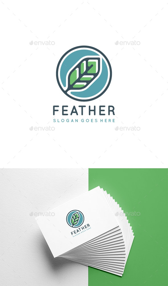 Feather Logo Template - Abstract Logo Templates