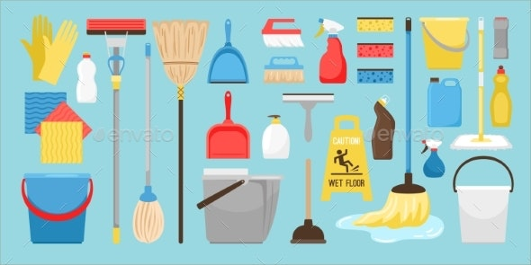 Cleaning and Disinfection Tools - Man-made Objects Objects