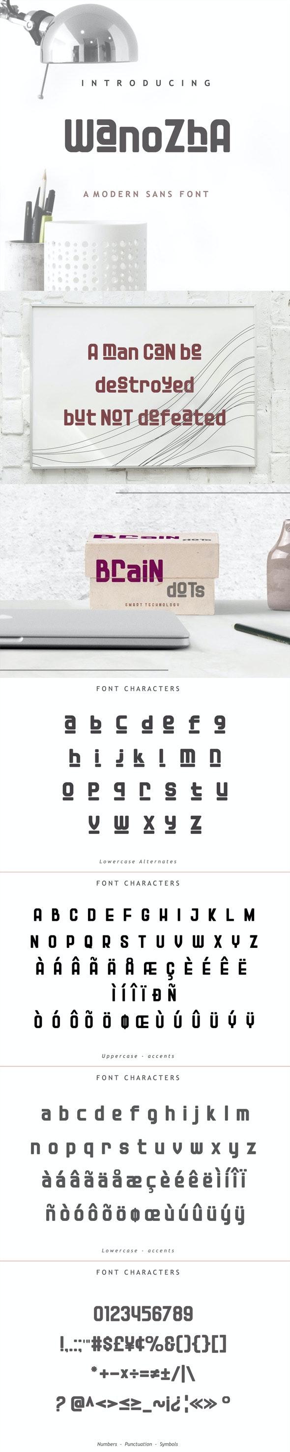 Wanozha Font - Sans-Serif Fonts