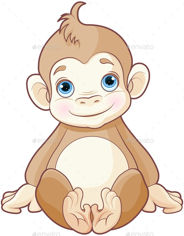 Baby Monkey - Animals Characters
