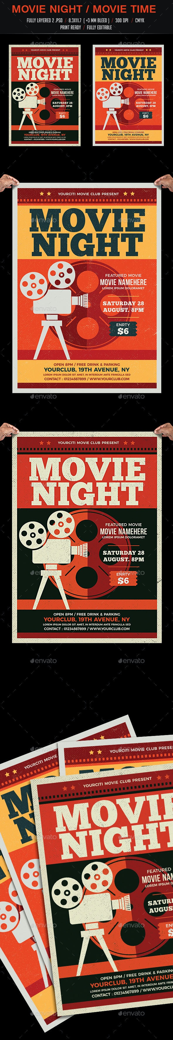 Movie Night / Movie Time Flyer - Events Flyers