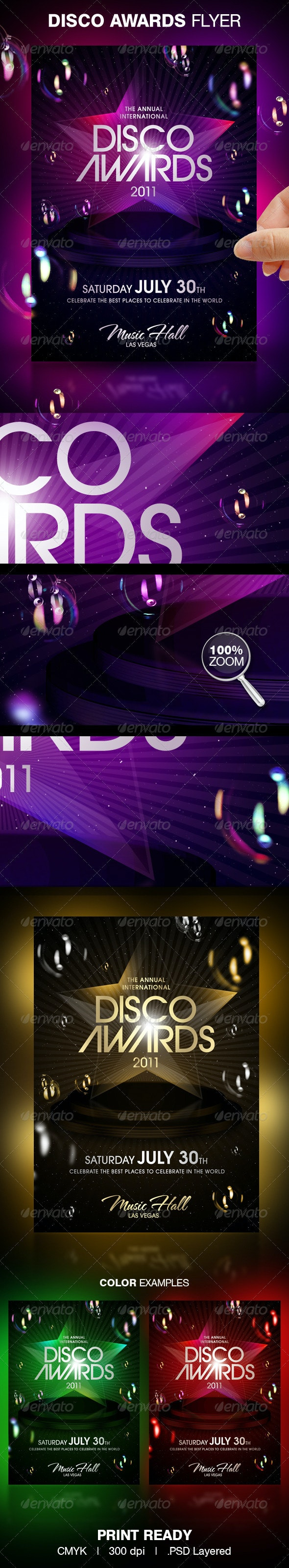 Disco Awards Party Flyer - Clubs & Parties Events