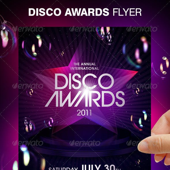 Disco Awards Party Flyer