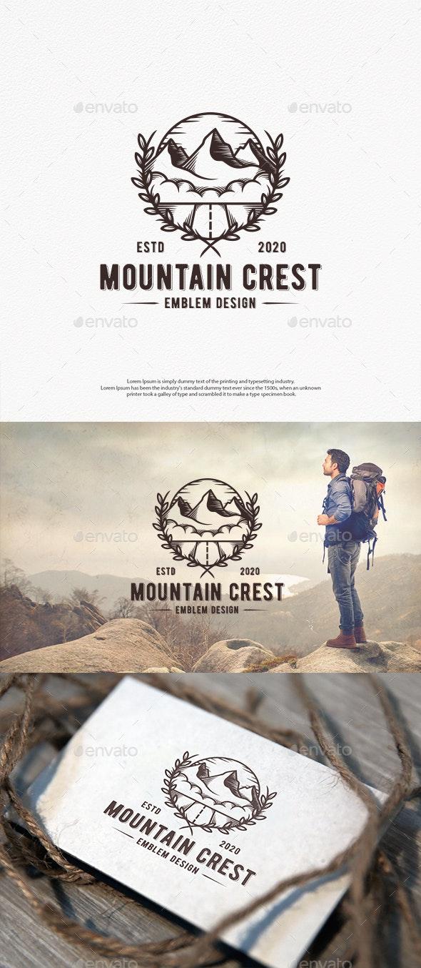 Mountain Crest Logo Template - Crests Logo Templates