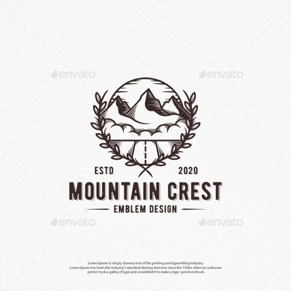 Mountain Crest Logo Template