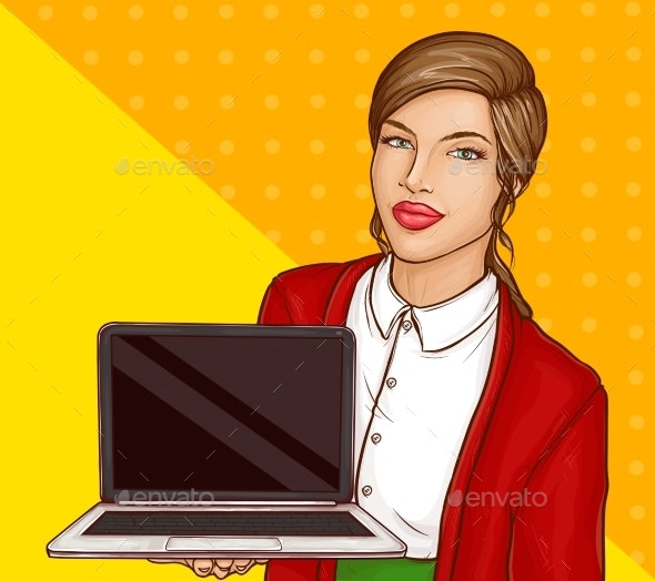 Business Woman or Teacher with Brown Hair - People Characters