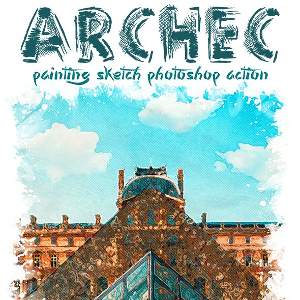 Archec - Painting Sketch Photoshop Action