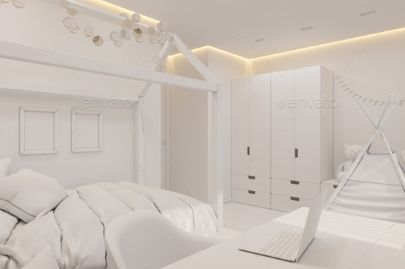The Interior Design Girl Playroom and Bedroom in - Miscellaneous 3D Renders