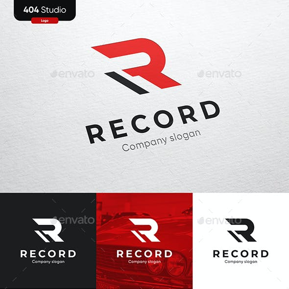 Red Modern Logo - R