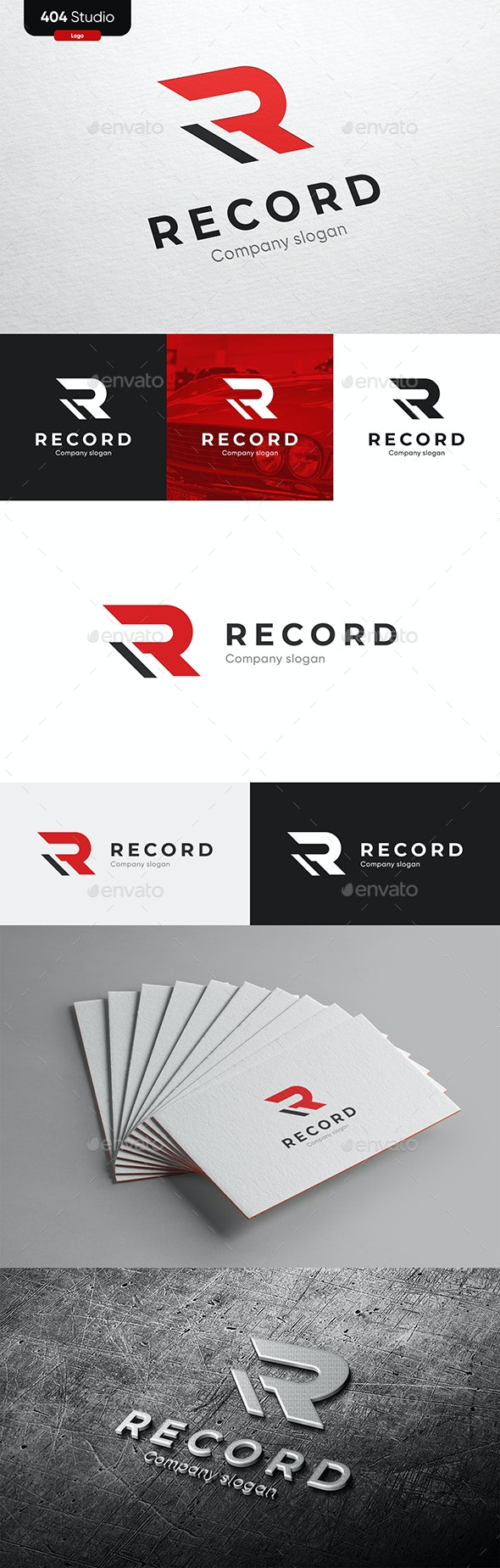 Red Modern Logo - R - Letters Logo Templates