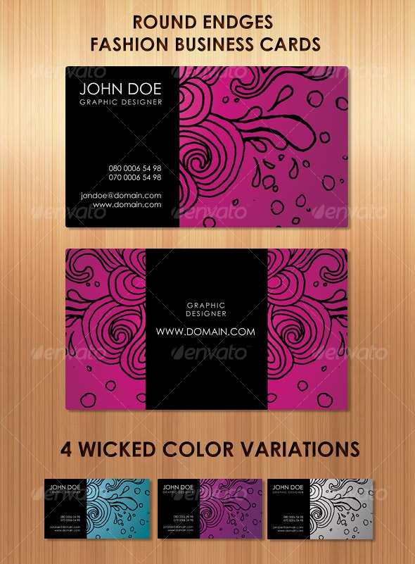Stunning Fashion business cards in 4 colors - Creative Business Cards