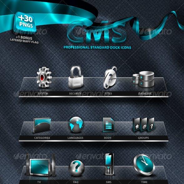 Unique CMS (Content Management System) Dock Icons