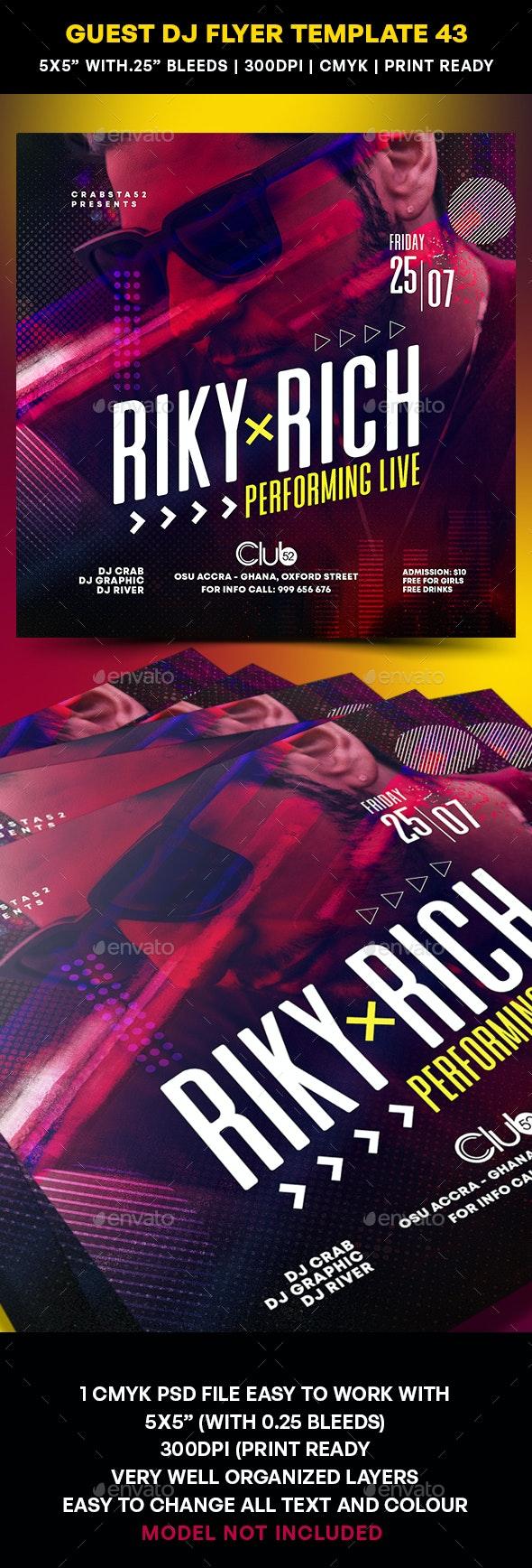 Guest DJ Flyer Template 43 - Clubs & Parties Events