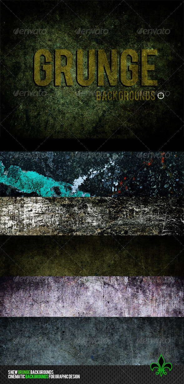 Grunge backgrounds 5 cinematic backgrounds - Industrial / Grunge Textures