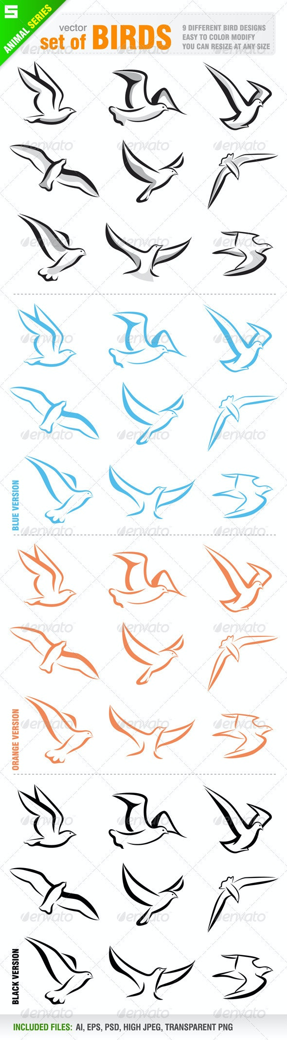 Set of birds - Animals Characters