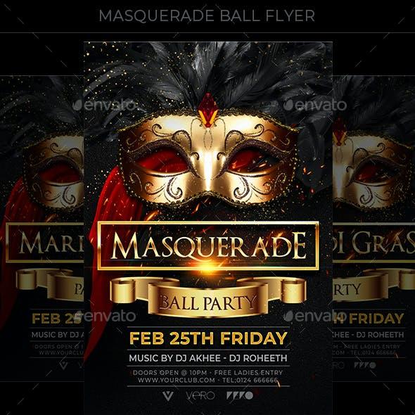 Masquerade Ball Party Flyer