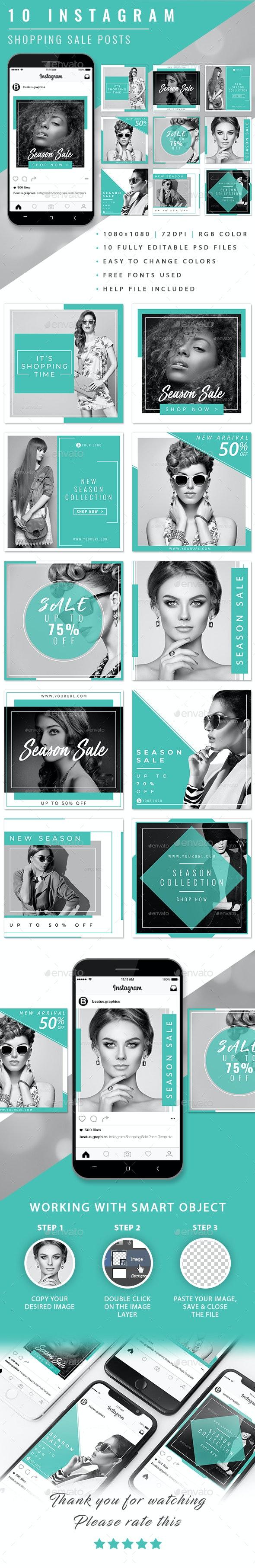 Instagram Sale Posts - Social Media Web Elements