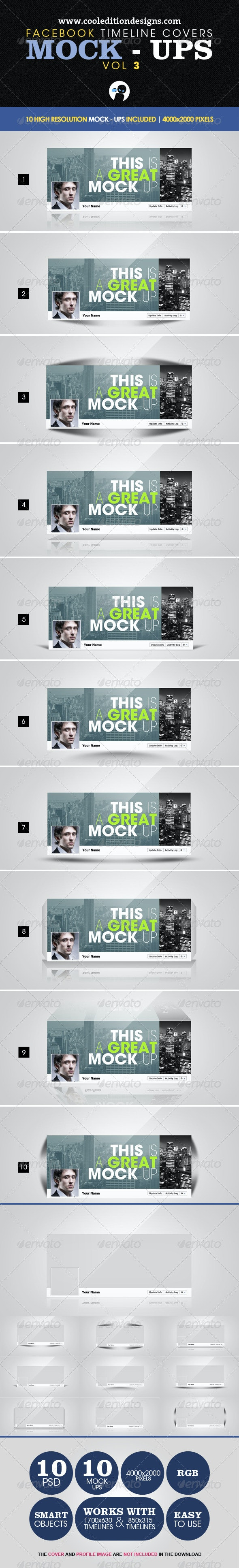 Facebook Timeline Covers Mock-Ups VOL3 - Miscellaneous Graphics