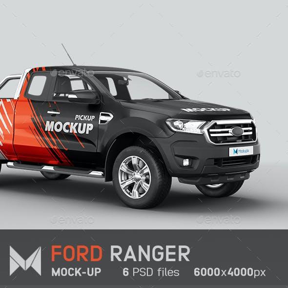 Ford Ranger Pickup Mockup