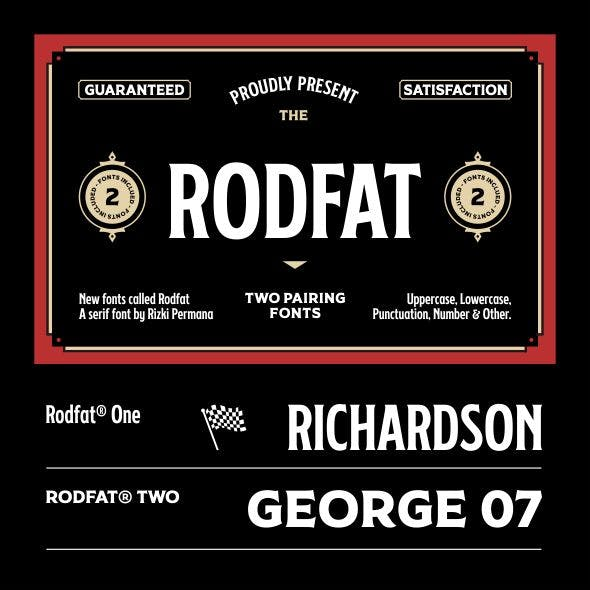 Rodfat - Two Pairing Fonts