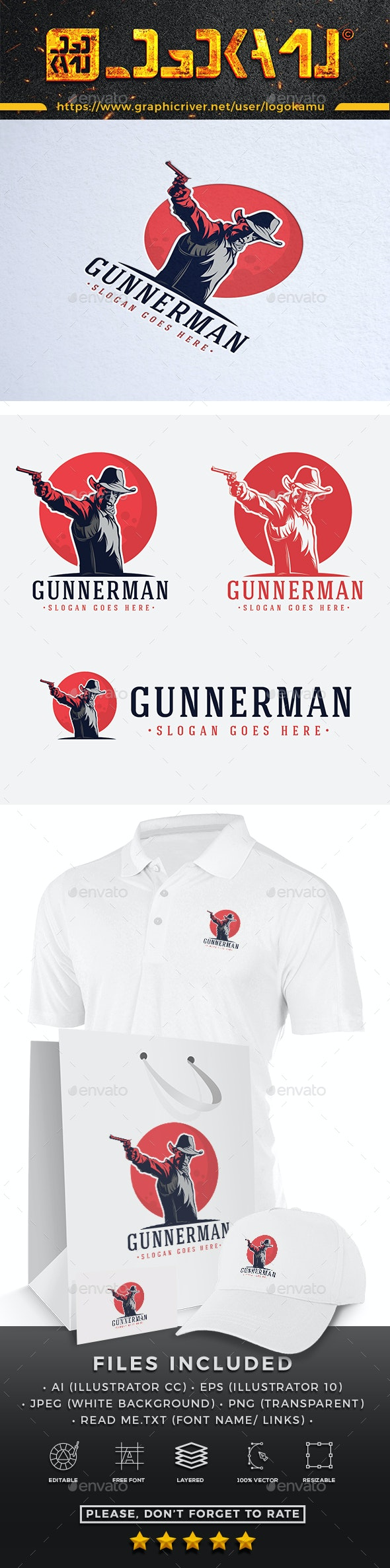 Gunner Man Logo - Humans Logo Templates
