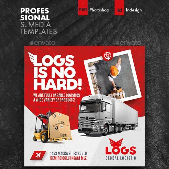 Logistics Social Media Templates