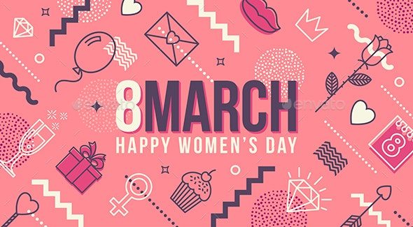 8 March International Women's Day Greeting Card - Miscellaneous Seasons/Holidays