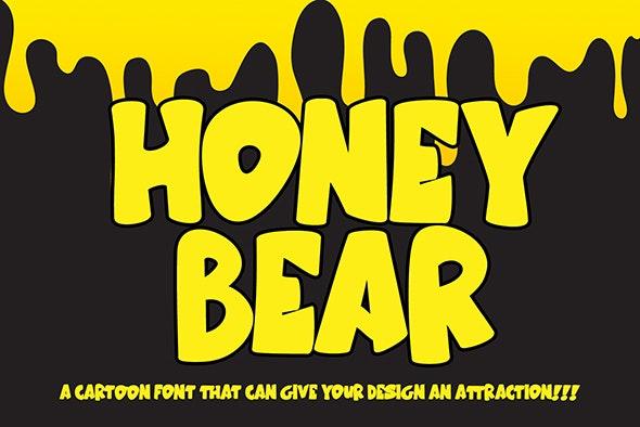 Honey Bear - Comic Decorative