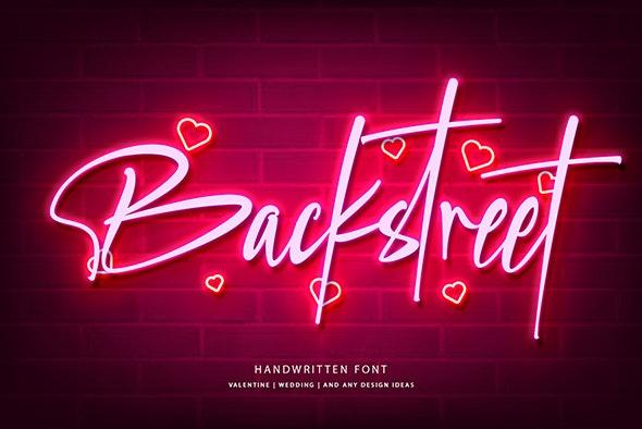 Backstreet - Hand-writing Script