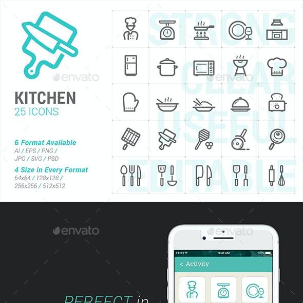 Kitchenware and Utensil Mini Icon