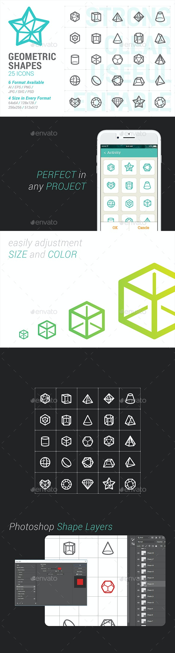 Geometric Shapes Mini Icon - Abstract Icons