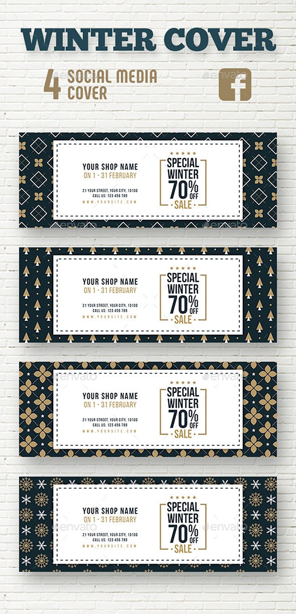 Winter Sale Cover Template - Facebook Timeline Covers Social Media